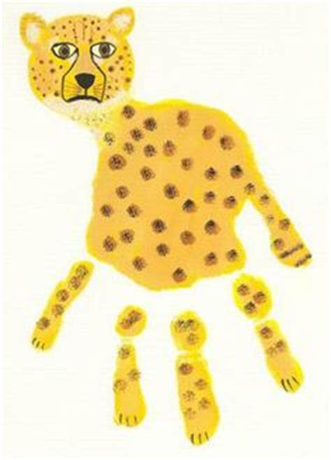 cheetah crafts for 1000 images about animal handprints on