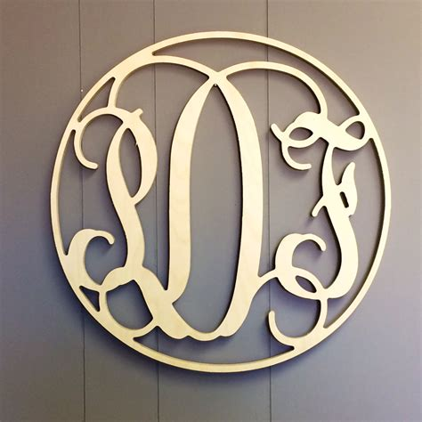Front Door Monogram Letters Circle Enclosed Front Door Wreath Monogram Letter Script