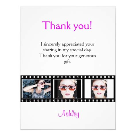 thank you letter to graduation graduation thank you photo note card filmstrip 4 25 quot x 5 5