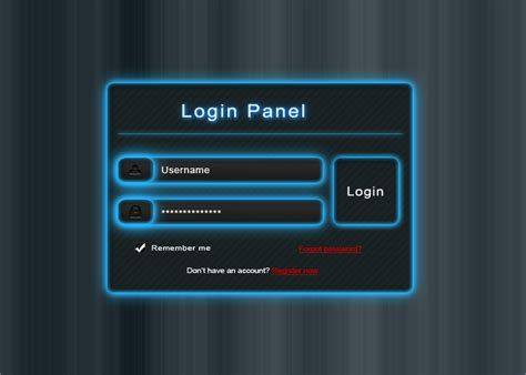 free psd login panel by wrecked by mconev on deviantart