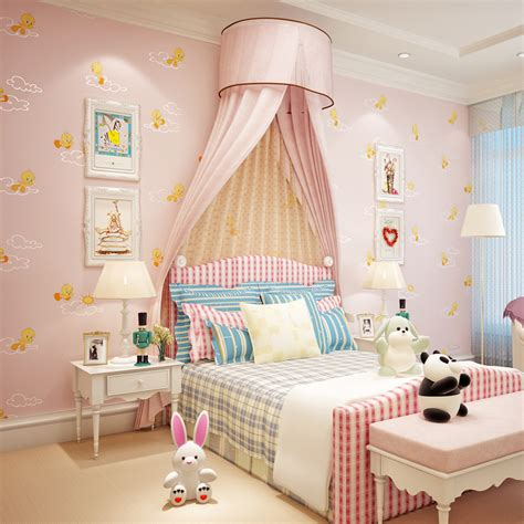 Wallpaper Kids Bedrooms Cozy Kids Bedroom Interior Decorating Ideas With Wallpaper