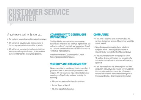 28 client service charter template best photos of