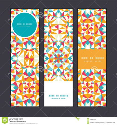 vertical layout web design vector colorful triangle texture vertical banners stock