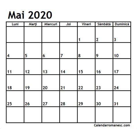 calendar mai  calendarul romanesc printabil