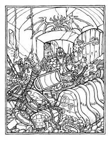 printable advanced coloring pages brains the official advanced dungeons and dragons