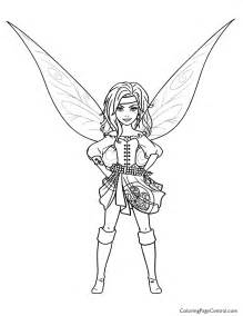 Tinkerbell – Zarina 01 Coloring Page  Central sketch template