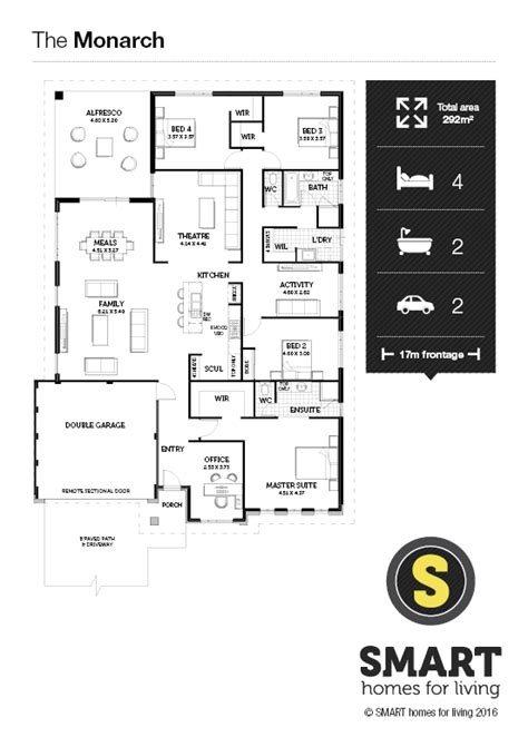 monarch homes floor plans the monarch home design smart homes for living