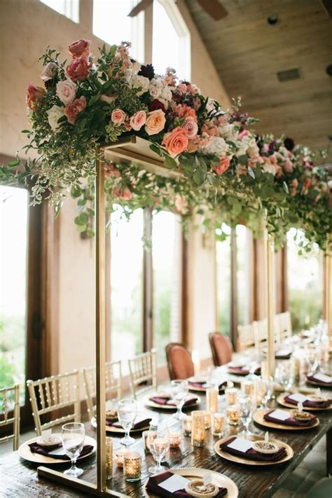 wedding wednesday head table decor inspiration flirty