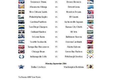 printable nfl schedule office pool weekly nfl office pick em pool fiverr