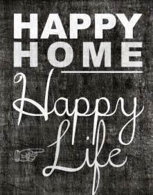 happy home inspiration quote printable download 11x14