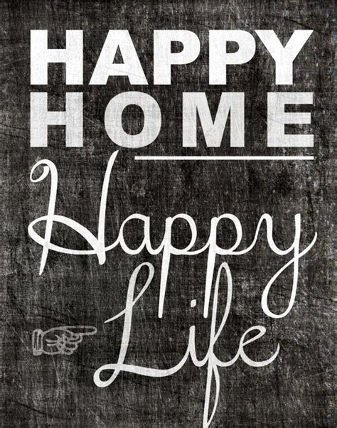 happy in your home happy home inspiration quote printable download 11x14