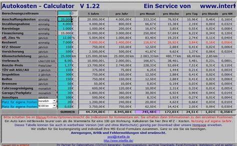 Versicherung Auto Kosten Rechner by Kfz Freeware De