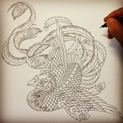 phoenix tattoo designs japanese best 82 cute drawings drawing ideas d images on