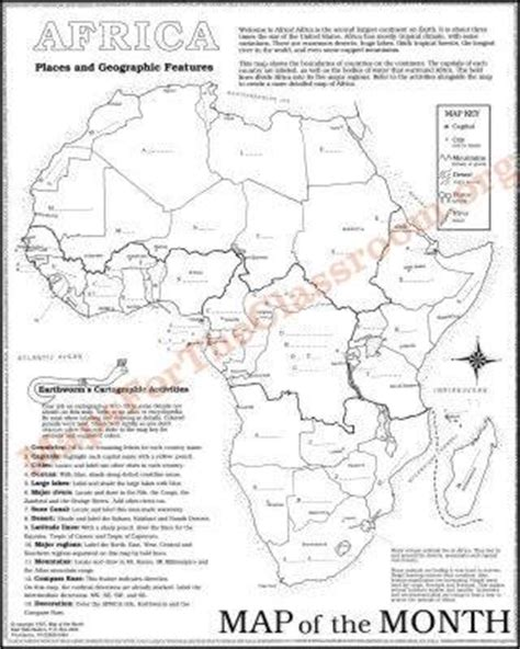 africa map activity africa map maps for the classroom