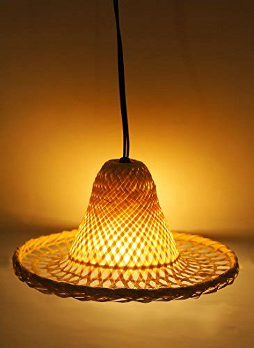 exotic elegance mix size mexican hat lamp shade   woven bamboo set   size