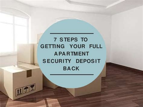 Getting Apartment Security Deposit Back 7 Steps To Getting Your Apartment Security Deposit Back