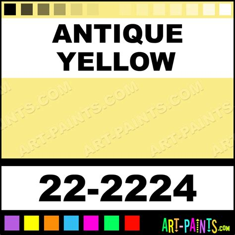 vintage yellow color antique yellow sargent art acrylic paints 22 2224 antique yellow paint antique yellow color