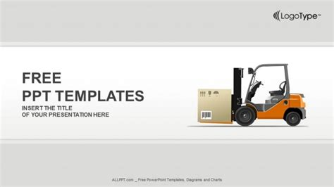 template ppt logistics free forklift in a warehouse powerpoint templates