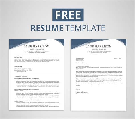 Free Templates For Resume by Free Resume Template For Word Photoshop Graphicadi