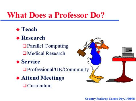 What Does A Professor Do