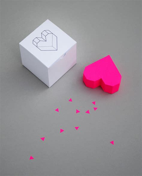 3d paper template boxed geometric minieco