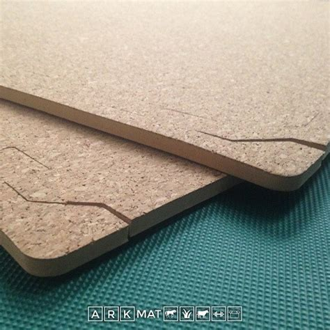 8mm thick cork topped eva floor tiles from arkmat