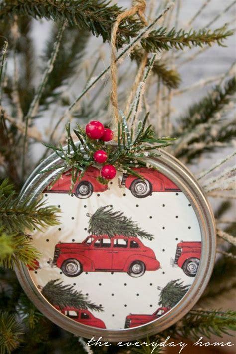 diy ornament decorations diy jar lid ornament the everyday home