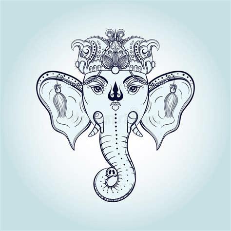 ganesha tattoo cultural appropriation hand drawn elephant head indian god lord hindu deity