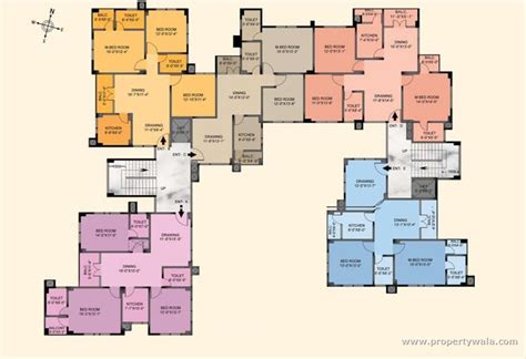 Shopping Complex Floor Plans by Saroj Parkland Vip Road Guwahati Residential Project