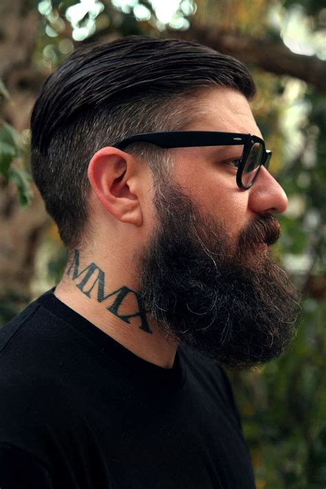tattoo beard profile of big thick beard beards bearded
