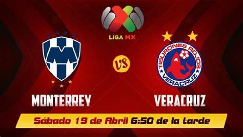 Vs Mx Mustard veracruz vs monterrey live start time tv info