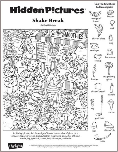printable hidden object pictures for adults shake break hidden pictures puzzle hidden pictures