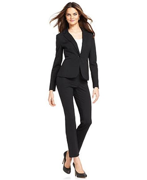 womens professional wear grace elements black ponte knit jacket slim straight leg