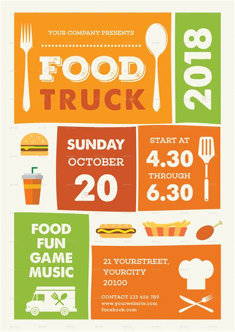 Food Truck Flyer By Infinite78910 Graphicriver Food Truck Flyer Template