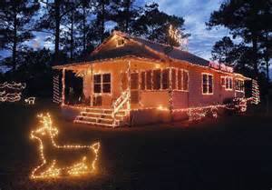 christmas light display in rural charlton inspired by