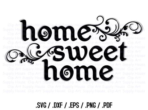home sweet home decor home sweet home svg svg clipart home decor wall