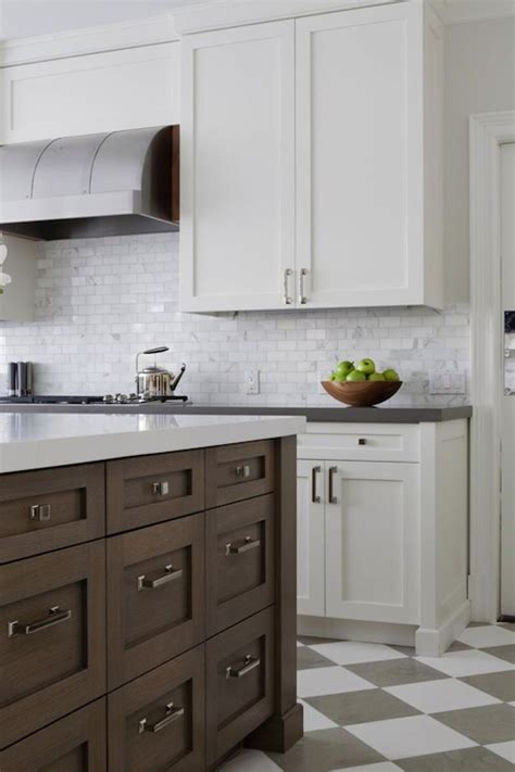 floor kitchen cabinets checkered tiled floor transitional kitchen foley cox