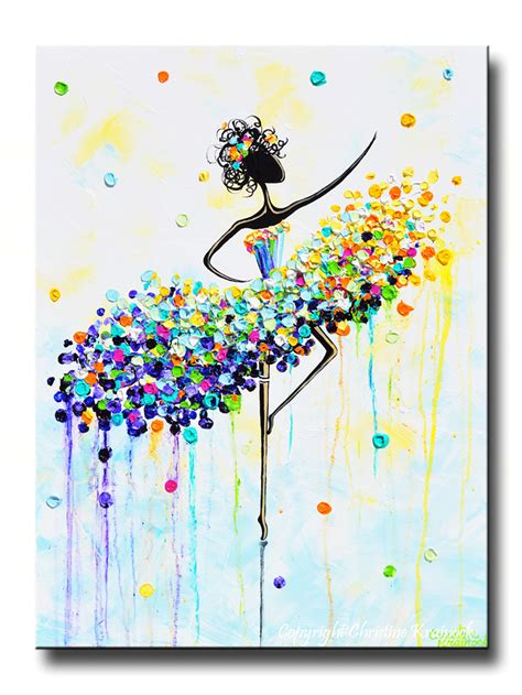 printable art canvas giclee print art abstract dancer painting aqua blue canvas