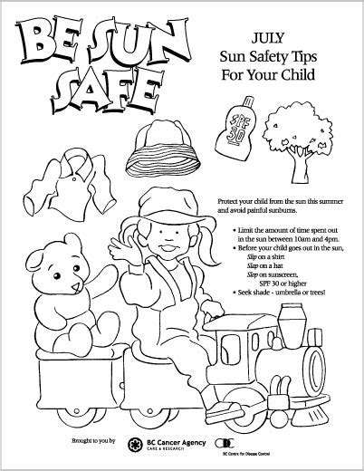 sun block coloring page kidsfirst north