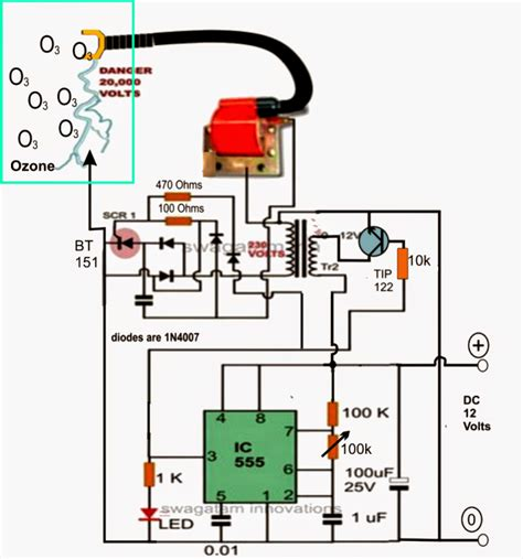 ozone water air sterilizer circuit