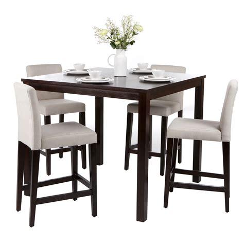 chaise bar ensemble table de bar 4 chaises hautes en bois de