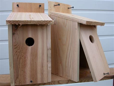 2 wren bird houses nest red cedar hole size 1 1 8 ebay