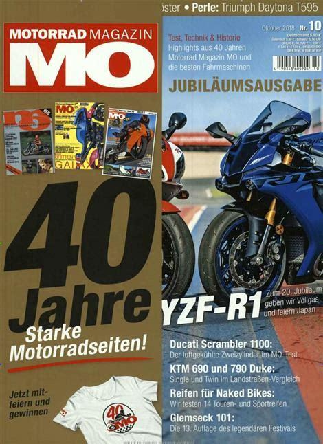 Mo Motorrad Magazin 10 12 mo motorrad magazin abo mo motorrad magazin probe abo mo