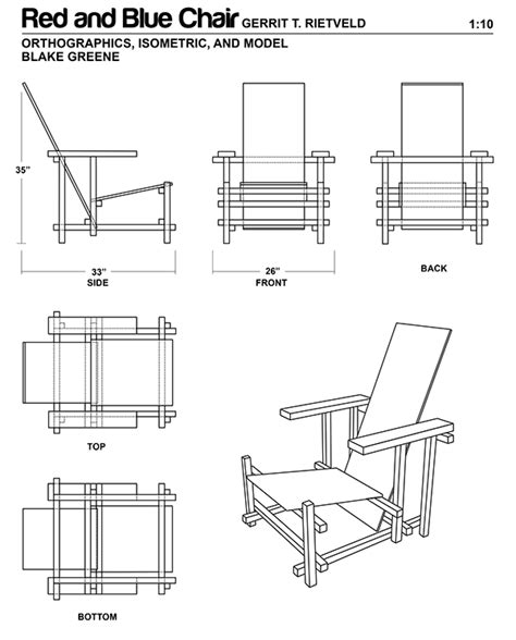 Isometric Furniture Drawing by Isometric Furniture Drawing