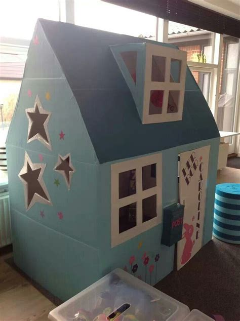 cardboard house   kids pinterest cardboard box