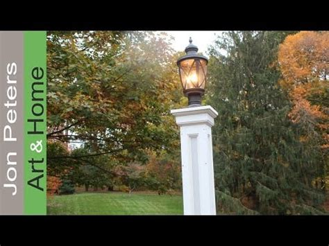 lamp post build  decorative column wrap