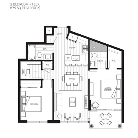 interior 3d two bedroom house layout design plans 10 of