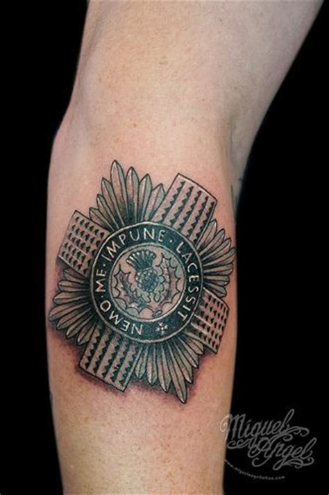 london tattoo military scots guards badge tattoo rob s quot if it s nae scottish