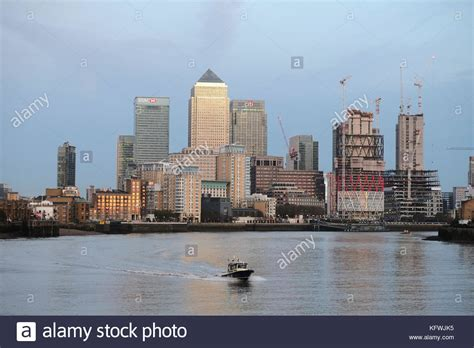 thames river boat from canary wharf river police hq stock photos river police hq stock