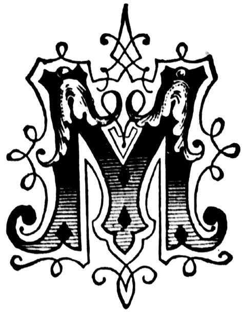 letter m layout initial quot m quot ornamental letter different letter fonts
